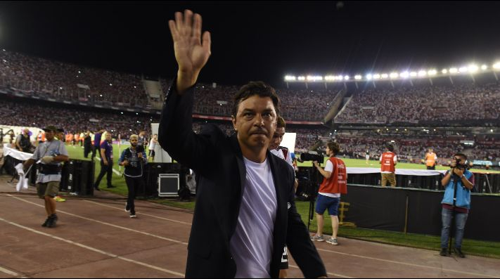 Marcelo Gallardo llleva siete títulos internacionales y tres a nivel local desde que asumió en River. (FOTO: Getty)