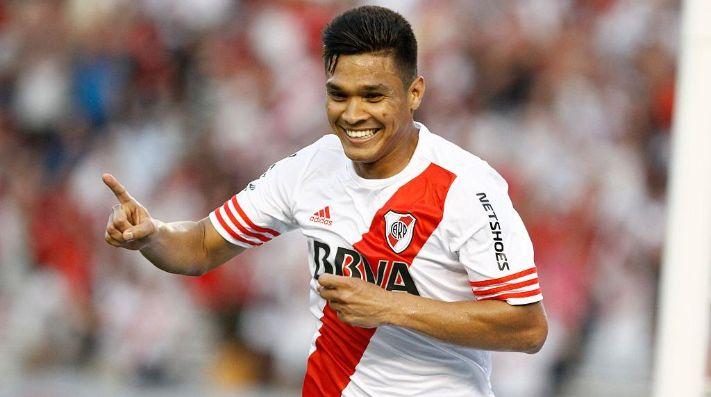 El colombiano jugó 70 partidos oficiales en River, marcó 28 goles y cosechó 5 títulos