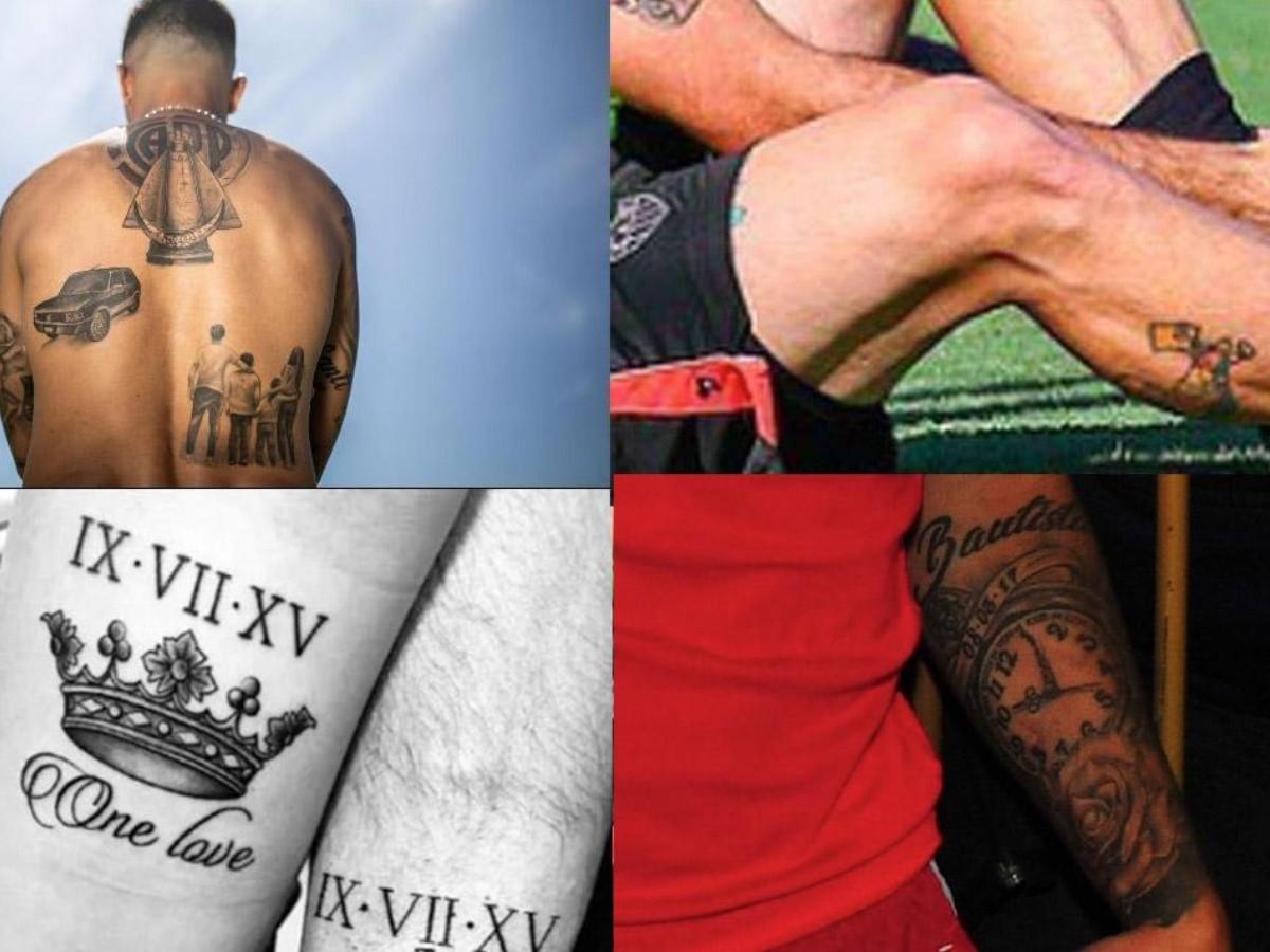 Los Tatuajes De Los Jugadores De River La Pagina Millonaria