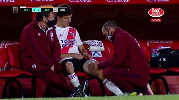 Nacho Fernandez salió lesionado y fue reemplazado por Santiago Sosa | La  Página Millonaria