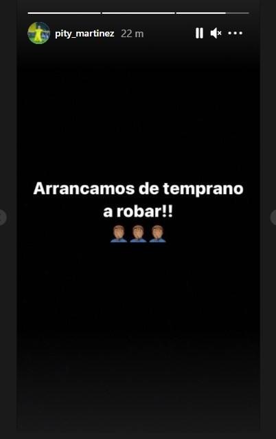 La historia de Instagram que subió el Pity después del 1-0 de Boca.